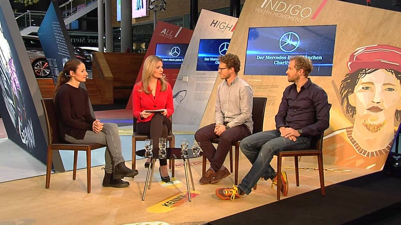Mercdes Benz Charity Talk bei München.tv mit Monika Eckert